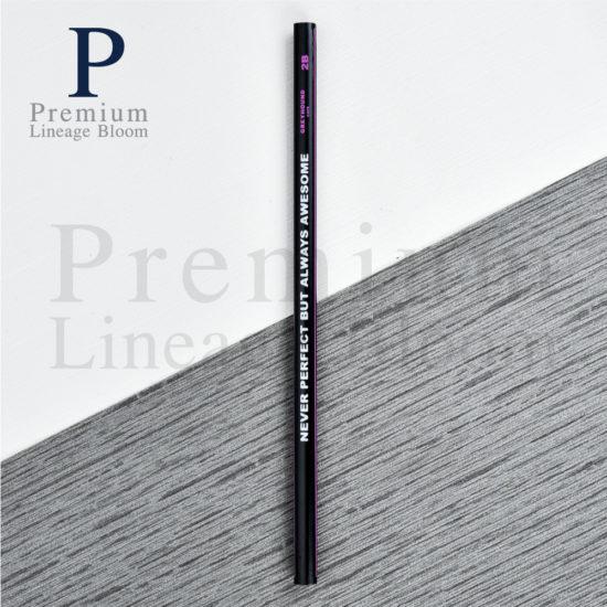 ดินสอไม้ โลโก้ NEVER PERFECT